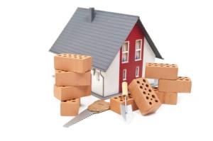 Ziegelsteine mit Haus